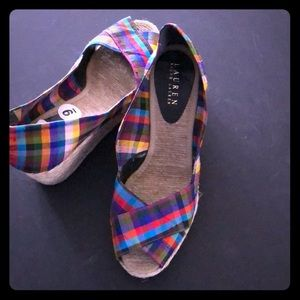 Multi colored espadrille